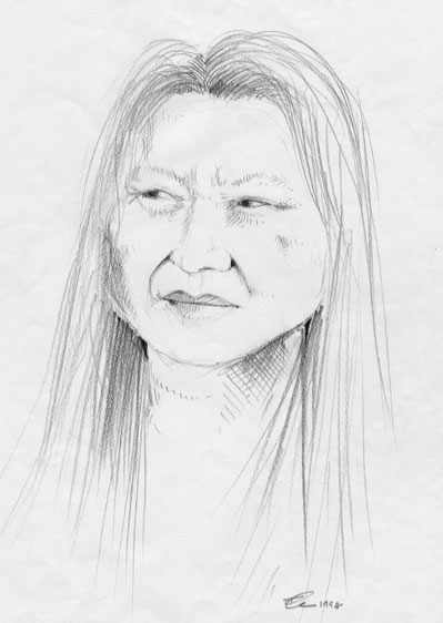 Pencil sketch by Frances Ku, San Francisco, 1998