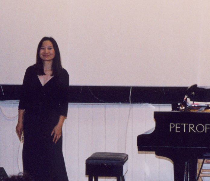 Before an audience in North Cyprus (2003)
