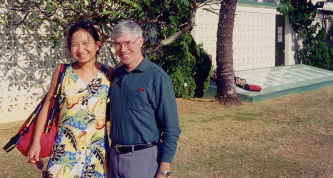 with Dr Ward at Kubasaki High School in 1999